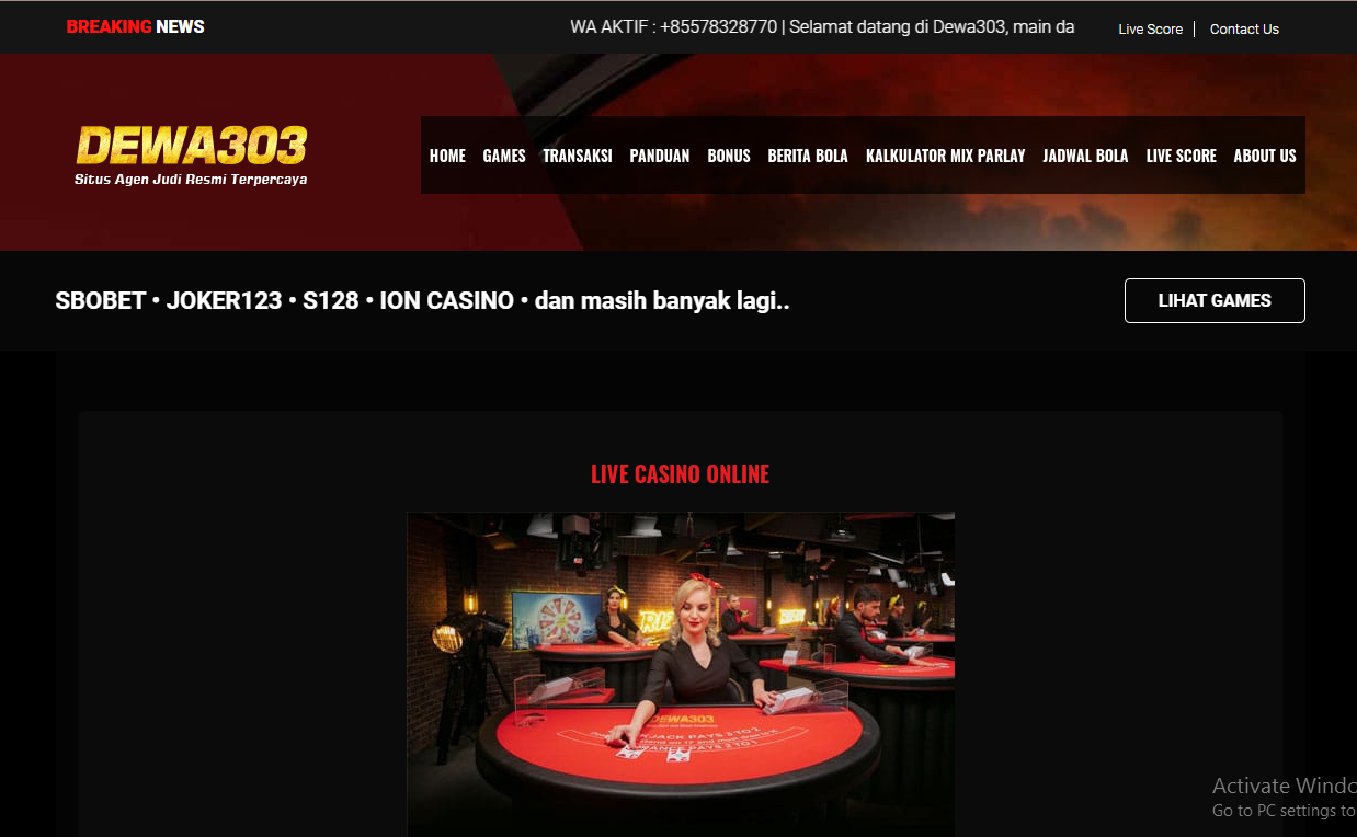 An Essential Way to Enjoy live casino as well as Make Money